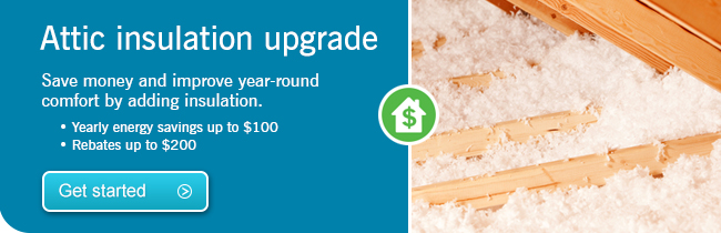 Attic insulation upgrade