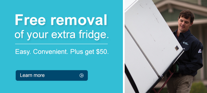 Free removal of your extra fridge.