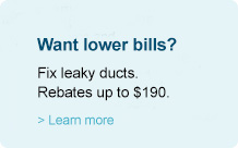 Fix leaky ducts. Rebates up to $190.