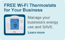 Free Wi-Fi Thermomstats For Your Business. Manage your business's energy use and Save.