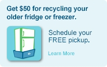 Recycle your old fridge or freezer